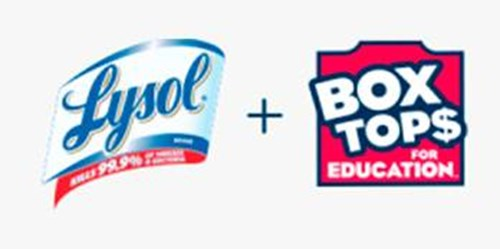 Lysol and Box Tops for Education Logo