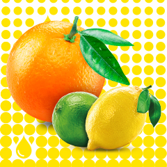 Orange, lemon and lime