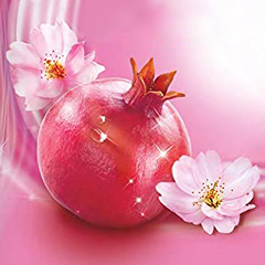 Cherry Blossoms and a Pomegranate
