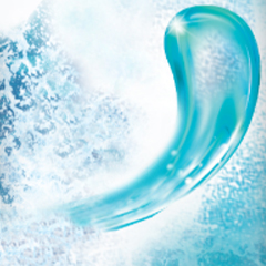 A wave of ocean water splashing and generating foam